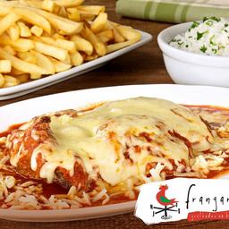 Parmegiana de Filet Mignon - Acompanha Arroz e Purê de Batatas