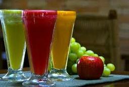 Sucos frutas vermelhas