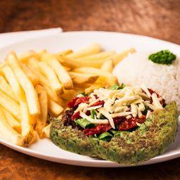 Hambúrguer Vegetariano Mediterrâneo