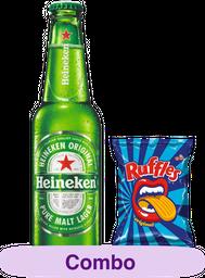 Combo Heineken Neck 330 mL + Original Ruffles 96g