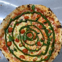 Pizza de Marguerita ao Pesto