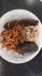 Arroz com lentilha + kafta + beringela recheada