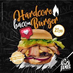 Hardcore Bacon Burger