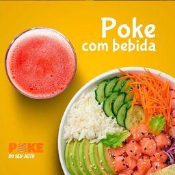 2 Pokes de Salmão Marinado + 2 Bebidas