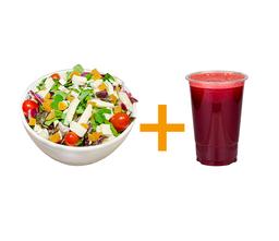 Salada gourmet apricot e brie+Suco 500ml