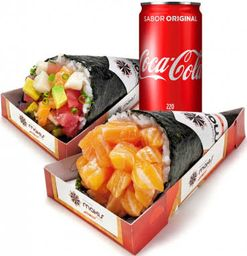 2 Temakis e Coca-Cola