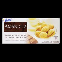 Lacta Amandita Wafer Recheado Sabor Chocolate