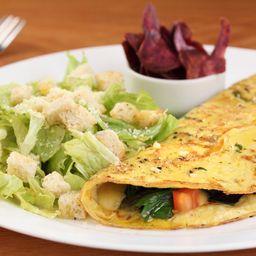 Omelete de alho poró