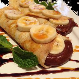 Panqueca chocolate com banana