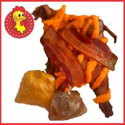 1/2 - frango na brasa com cheddar e bacon