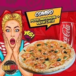 Pizza Individual 25cm +  Refrigerante 350ml