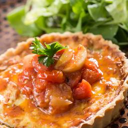 22 - Quiche de abobrinha - topping de tomates assados