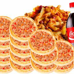20 Carne + 1 Batata Bacon e Cheddar + 1 Coca 2 Lt