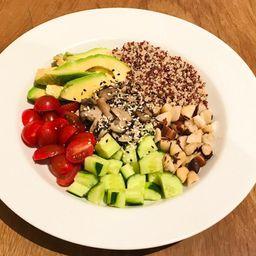 Salada Poke de Cogumelo
