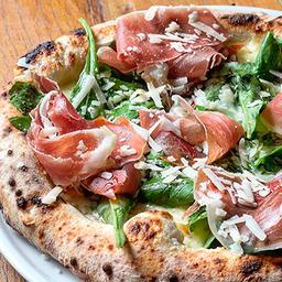 Pizza Rúcola, Crudo e Grana