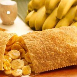 Pastel de Banana em Rodelas com Leite Condensado