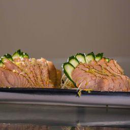 Sashimi de Salmão Trufado No Maçarico
