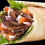 Sanduíche shawarme de carne
