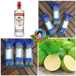 Sacolé de Mousse de Limão com Vodka