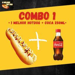 1 Hot Dog 30 Cm + Bebida 250 ml