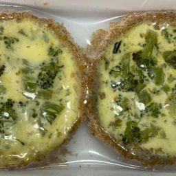 Tortinha de Brócolis - Massa Integral