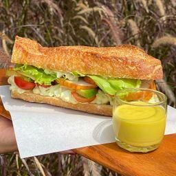 Sanduiche de Frango Defumado