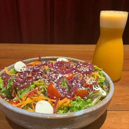 Monte sua Salada e Suco 300ml