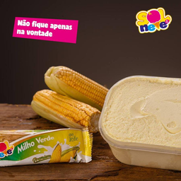 Picolé Leite Milho Verde
