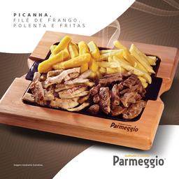 Porção Picanha + Filé de Frango + Fritas + Polenta