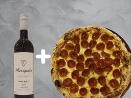 Combo Pizza e Vinho Malbec