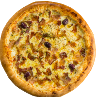 Pizza de Bacon com Mussarela - Grande