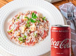 2x1: Baião de Dois + Coca-Cola