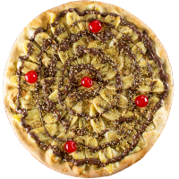 Pizza de Banana Crocante com Ovomaltine