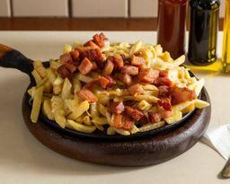 Batata com queijo e bacon