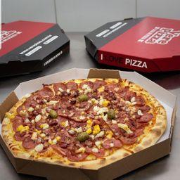 Pizza Em Dobro com Borda + Refri 2litros