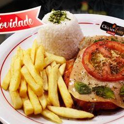 Chicken à Marguerita Arroz e Fritas