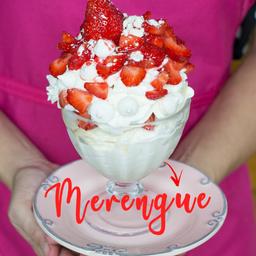 Taça Gourmet Merengue de Morango