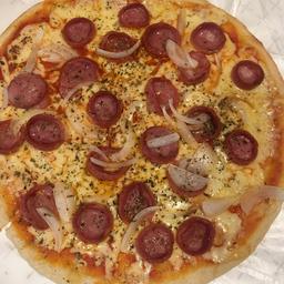 2 Pizzas Grandes Calabresa e Refrigerante 2L