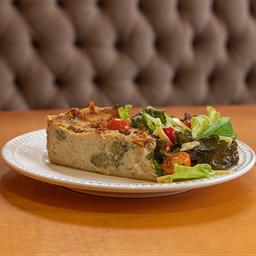 Torta de alho Poró com Brócolis e Bacon - 250g
