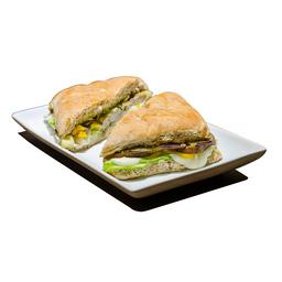 Sanduíche Gourmet ao Forno Vegetariano e Búfala