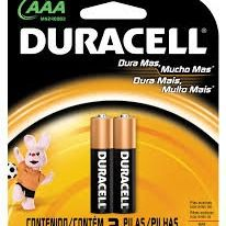 Pilha Duracell AAA C/2