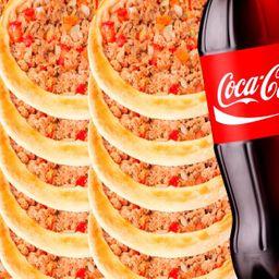 10 Esfihas de Carne + 1 Coca de 1 Litro