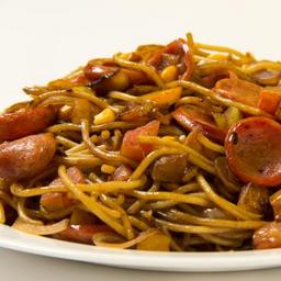 Spaghetti caipira (na chapa)