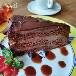 Torta de Raspas de Chocolate - Fatia