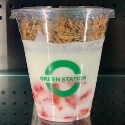 Iogurte Lac Free com morango e granola