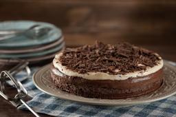 Torta Mousse de Chocolate e Maracujá - Fatia