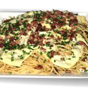 Espaguete na Chapa de Bacon