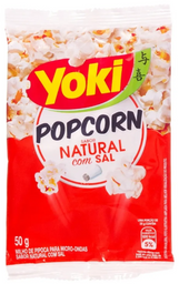 Pipoca de Microondas Natural com Sal - Individual - Yoki