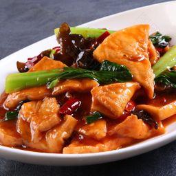 家常豆腐 Tofu com Legumes e Carnes