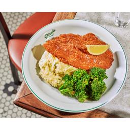 Pf de Peixe com Purê e Brócolis